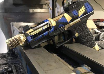 Wright Armory - Walther PPQ Reddot Cuts, Laser Cut Ports, Stippling Cerakote, Gold Plating