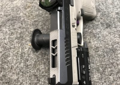 Wright Armory - CZ P10c Laser Cut Ports, Slide Machined for Vortex Venom
